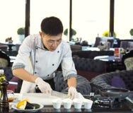 Japanese chef Royalty Free Stock Image