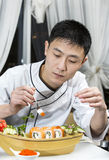 Japanese chef Stock Images