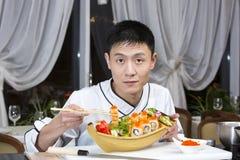 Japanese chef Stock Image