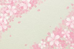 Japanese cherry blossom abstract and vintage white paper background Royalty Free Stock Photo