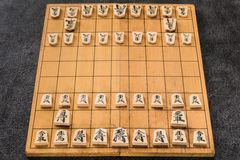 Japanese chess board and pieces Stock Photos