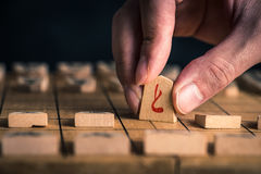 Japanese chess and hands Royalty Free Stock Images