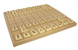 Japanese Chess Set (Shogi) Stock Photo