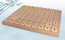 Japanese Chess Set (Shogi) Royalty Free Stock Photography