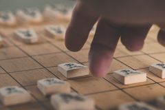 Japanese chess strategy board games in japan Stock Photography