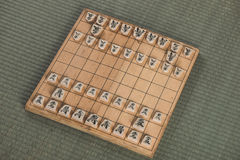 Japanese chess strategy board games in japan Stock Image