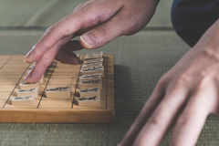Japanese chess strategy board games in japan Royalty Free Stock Photos
