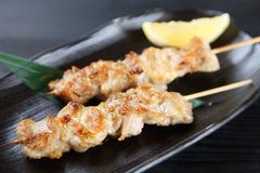 Japanese chicken barbecue YAKITORI. Close up shot of Japanese chicken barbecue YAKITORI stock photo