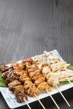 Japanese chicken BBQ yakitori Royalty Free Stock Photography