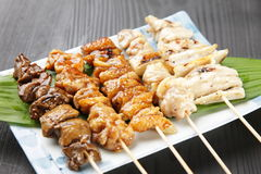 Japanese chicken BBQ yakitori Stock Photos