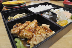 Japanese Chicken Set Meal. This is a very superb and delicious Japanese set meal stock photography