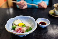 Japanese chilled tofu appetizer Royalty Free Stock Image