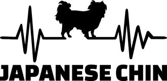 Japanese Chin heartbeat word royalty free stock photo