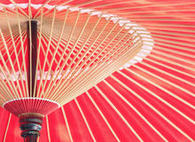 Japanese chinese traditional Oil paper red umbrella Stock Photography