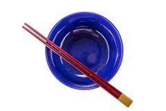 Japanese chopsticks on a bowl Royalty Free Stock Image