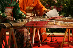 Japanese cithar players Royalty Free Stock Photography