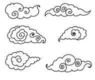Japanese cloud tattoo design isolate vector Stock Images