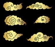 Japanese cloud tattoo design vector Stock Photo