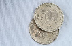 Japanese coins Royalty Free Stock Photography