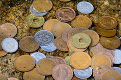 Japanese coins Royalty Free Stock Photos