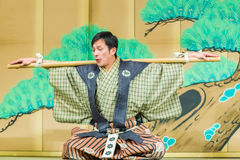 Japanese comedians in Kyoto Royalty Free Stock Image