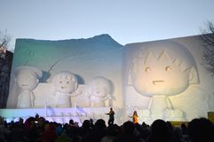 Japanese comic character snow festival Hokkaido Royalty Free Stock Images