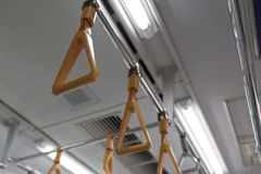 Japanese commuter train. The interior of a Japanese commuter train Royalty Free Stock Images