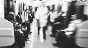 Japanese Commuters in Tokyo Abstract blurred Motion Concept Stock Images