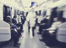 Japanese Commuters in Tokyo Commuters Subway Concept Stock Image