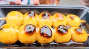 Japanese confectionery/Mitar ashi dango Royalty Free Stock Photo