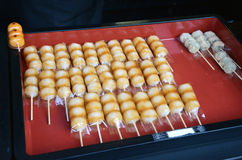 Japanese confectionery, Mitarashi Dango Royalty Free Stock Photos