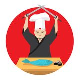 Japanese cook Royalty Free Stock Image