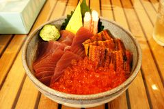 Japanese cooking. The delicious Japanese tranditional cooking Stock Photography