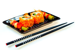 Japanese cooking - rolls California and other Royalty Free Stock Photography