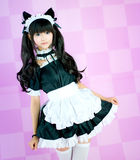 Japanese cosplay cute lolita maid Stock Photos