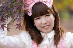 Japanese cosplay girl. Japanese girl in lolita cosplay fashion royalty free stock photos