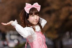 Japanese cosplay lolita Royalty Free Stock Photos