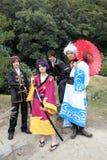 Japanese cosplayers, samurai Stock Photos