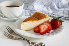 Japanese cotton cheesecake. Stock Photo