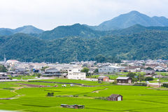 Japanese countryside. In Okayama prefecture Royalty Free Stock Photo