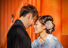 Japanese couple in Kyoto Stock Photography