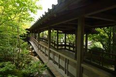 Japanese courtyard. The promenade in Japanese courtyard Stock Image