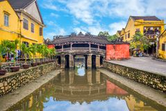 Japanese Covered Bridge, also called Lai Vien Kieu. Japanese Covered Bridge, also known as Lai Vien Kieu, was built by Japanese artisans who were part of a Stock Photos