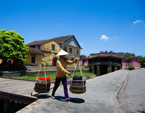 Japanese covered bridge Stock Photography