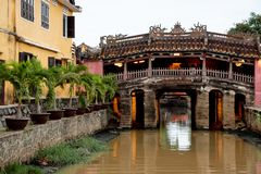 Japanese Covered Bridge in Hoi An, Vietnam. stock images