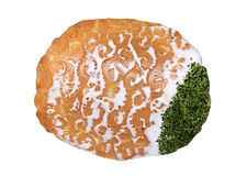 Japanese cracker with seaweed Royalty Free Stock Images