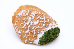 Japanese cracker with seaweed Royalty Free Stock Image