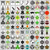 Japanese crests family emblems Royalty Free Stock Photos