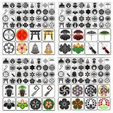 Japanese Crests Set B Stock Photos