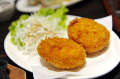 Japanese croquette. Fried to perfect golden brown Royalty Free Stock Images